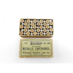 WINCHESTER 32 SHORT CENTER FIRE AMMO, DATE IN 1890'S