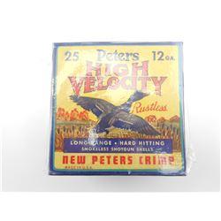PETERS HIGH VELOCITY 12 GAUGE SHOTSHELLS