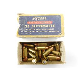 PETERS 25 AUTOMATIC AMMO