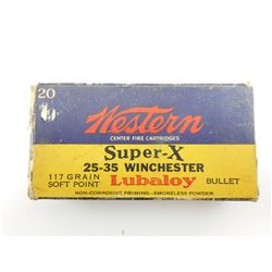 WESTERN SUPER X 25-35 WINCHESTER AMMO