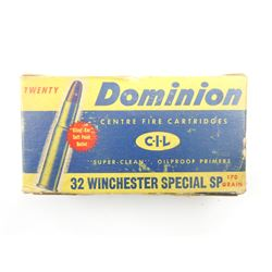 DOMINION 32 WINCHESTER SPECIAL SP AMMO