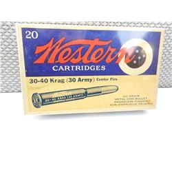 WESTERN 30-40 KRAG (30 ARMY) AMMO