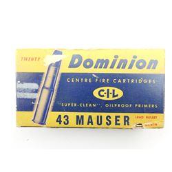 DOMINION 43 MAUSER AMMO