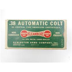REMINGTON 38 AUTOMATIC COLT AMMO