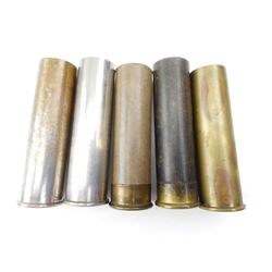 8 GA BRASS SHOTSHELLS, ONE PRIMED