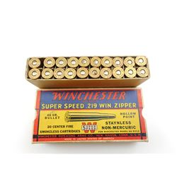 WINCHESTER SUPER SPEED .219 WIN ZIPPER