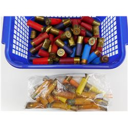 ASSORTED 12 GAUGE, AND 20 GAUGE SHOTSHELLS, SOME PAPER