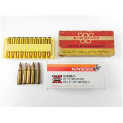 ASSORTED AMMO, 300 SAVAGE, 45-70, 32 WIN