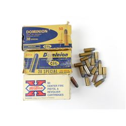 38 SPECIAL, 38 S & W, 38 ACP ASSORTED AMMO
