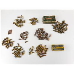 ASSORTED AMMO, 9MM, 32, 38 SHORT, 45-70, 32 SHORT, 455 COLT, 45 ACP, 44 WEBLEY, SOME WWII ERA