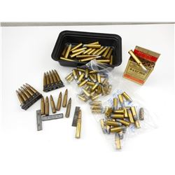 ASSORTED AMMO, 44 S & W, 44 RUSSIAN, 45-70, 7.62X45, 8X57, 303 BRITISH (DATED WWII ERA)