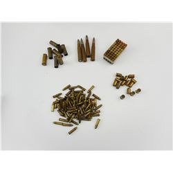 22 LR AMMO, 8 X 57, 9MM BLANKS, 44-40 BRASS