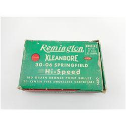 REMINGTON KLEANBORE 30-06 SPRINFIELD AMMO