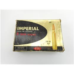 IMPERIAL 8MM MAUSER AMMO