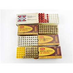 38 SPECIAL ASSORTED AMMO, BRASS, PLASTIC AMMO AND EMPTIES