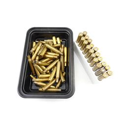 270 WIN ASSORTED AMMO, BRASS