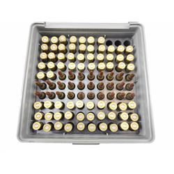 22-225 REM AMMO, BRASS IN PLASTIC CASE