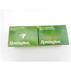 REMINGTON SMALL RIFLE PRIMERS, NO. 6 1/2, NO. 7 1/2