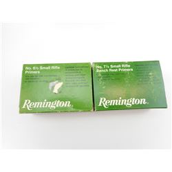 REMINGTON SMALL RIFLE PRIMERS, NO. 6 1/2, NO. 7 1/2