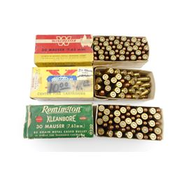 30 MAUSER (7.63) ASSORTED AMMO