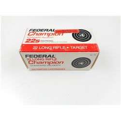 FEDERAL 22 LONG RIFLE CHAMPION AMMO