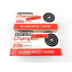 FEDERAL CHAMPION 22 LONG RIFLE AMMO