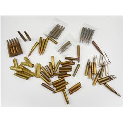 8MM MAUSER AMMO ASSORTED, BRASS, STRIPPER CLIPS