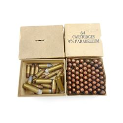 9MM PARABELLUM AMMO, ASSORTED AMMO