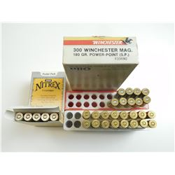 300 WEATHERBY & WIN MAG AMMO ASSORTED