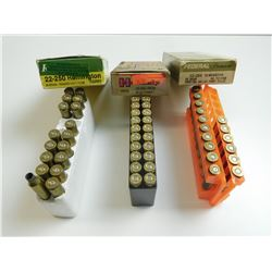 22-250 ASSORTED AMMO, BRASS