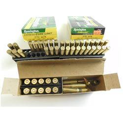 270 WSM AND WIN ASSORTED AMMO, BRASS