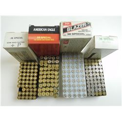 38 SPECIAL ASSORTED AMMO, BRASS