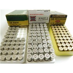 38 S & W , AND 38 SPL ASSORTED AMMO