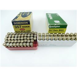 357 MAGNUM AND REM MAG ASSORTED AMMO