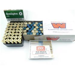 44 MAG ASSORTED AMMO, BRASS