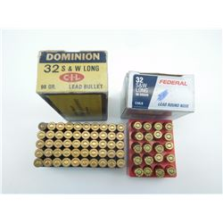 DOMINION AND FEDERAL 32 S & W LONG AMMO ASSORTED