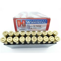 HORNADY AMERICAN WHITETAIL 7MM-08 REM AMMO