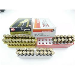 303 BRITISH, 303 SAVAGE AMMO ASSORTED