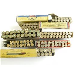 LONG RIFLE ASSORTED AMMO, 32-40,30-30, 220 SWIFT, 300 WEAHTERBY MAG, 303 BRIT.