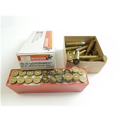 45-70 GOV ASSORTED AMMO, SOME RELOADED