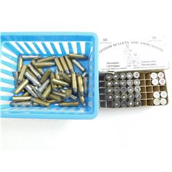 38 SPECIAL ASSORTED AMMO, BRASS, BRASS WITH BULLETS-FIRED PRIMERS