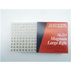 FEDERAL NO 215 MAGNUM LARGE RIFLE PRIMERS, SHOT SHELL LOAD LABELS