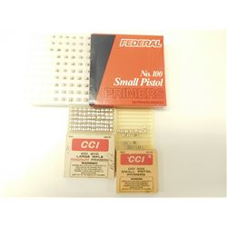 SMALL PISTOL PRIMERS #100, LONG RIFLE PRIMERS # 250, SMALL PISTOL # 500
