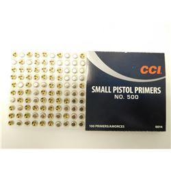 CCI SMALL PISTOL PRIMERS NO. 500