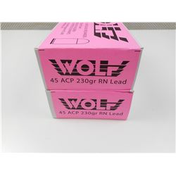 WOLF 45 ACP RELOADED AMMO