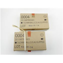 7.62MM BALL C21 CLIPPED AMMO