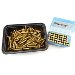 222 MAG AND REM. BRASS CASES