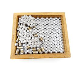 .38 CAL BULLETS IN WOODEN BOX
