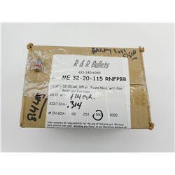 R & R BULLETS 32-20 CAL (.314 DIA) BULLETS