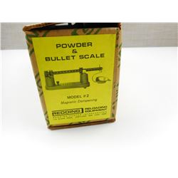 REDDING POWDER AND BULLET SCALE